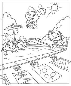 Rocket from Little Einsteins coloring pages for kids, printable free ...