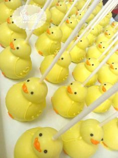 Rubber duck cake pops                                                                                                                                                      More