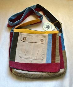 Items similar to Soft corduroy and recycled jean hippie shoulder bag on Etsy Recycle Jeans, Upcycle, Denim Bag, Wash Bags, Corduroy, Messenger Bag, Purses And Bags, Recycling, Shoulder Bag