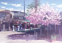 building cherry blossoms isou nagi nobody original scenic tree wallpaper background Scenery Background, Animation Background, Background Pictures, Anime Scenery Wallpaper, Tree Wallpaper, Nature Wallpaper, Anime Beautiful, Anime Cherry Blossom, Cherry Blossoms