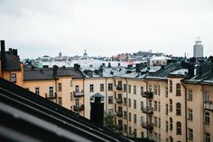 A view over the rooftops of Södermalm.