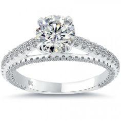 1.77 Carat G-VS2 Certified Natural Round Diamond Engagement Ring 18k White Gold - Liori Exclusive Engagement Rings - Engagement - Lioridiamonds.com