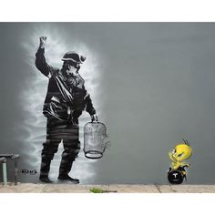 canary in a coal mine streetart Street Art Banksy, Graffiti Art, Bansky, Alternative Art, Coal Mining, Film Director, Story Time, Urban Art, Cool Pictures