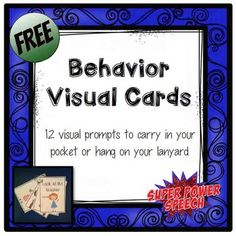 Small adorable cards that you can wear!Use these throughout the day to give kids visual reminders of Classroom Behavior Management, Classroom Jobs, Social Emotional Learning, Social Skills, Preschool Behavior, Preschool Ideas, Behavior Cards, Cue Cards, Behavior Interventions