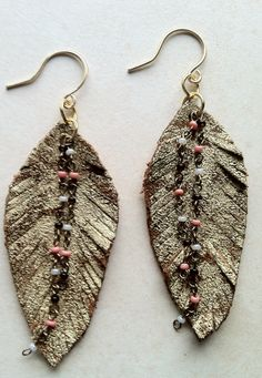 """2013 Tribal Collection by Archipelago Jewelry - leather """"feathers"""""""