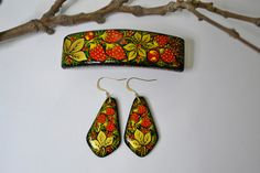 Special Order Elena Lena Barrette and Earrings by IGORartPAINTING