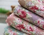 Fat Quarter) Blooming Cotton Fabric, Set of 4