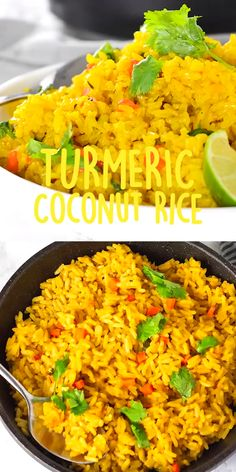Enjoy this delicious and healthy Turmeric Coconut Rice for your next meal. Brown rice simmered in seasoned coconut milk with onion, garlic, and thyme. Turmeric Coconut Rice Veronika Mueller veronikasthings Gluten free recipes Enjoy this delicious a Rice Recipes For Dinner, Soup Recipes, Vegan Recipes, Cooking Recipes, Flavoured Rice Recipes, Vegetarian Recipes Coconut Milk, Healthy Brown Rice Recipes, Recipes Using Coconut Milk, Vegetarian Rice Dishes