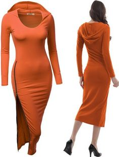 Doublju Womens Fitted Dress with Sexy Side Zipper Point [$13.88]