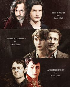 If a marauders movie was made...this could NOT be a more perfect choice of cast. Like I'd make the friggin movie myself if I could.