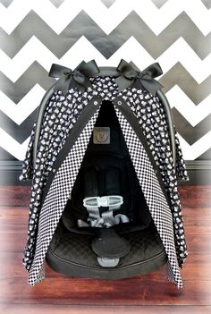 SKULLS car seat canopy car seat cover CHECKERED by JaydenandOlivia