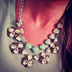 """The magic of layering... (Ombre Aqua """"Somervell"""" and crystal """"Lila"""" necklaces from Stella & Dot)"""