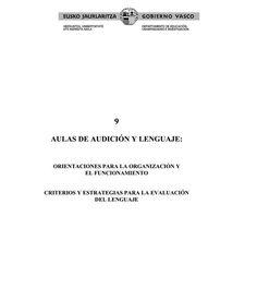 """Guía """"Aulas de Audición y Lenguaje"""""""