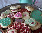 valentine Cookies- heart Cookies- assorted heart cookies -heart sugar cookies-Valentine Sugar cookies