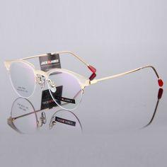 New Fashion Eye Glasses Frames For Women Eyewear Optical Half Frame Gold Vintage Myopic /Reading Glasses Prescription Frame 224