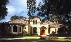 Plan W83346CL: Florida, Corner Lot, Luxury, Mediterranean, Photo Gallery House Plans & Home Designs