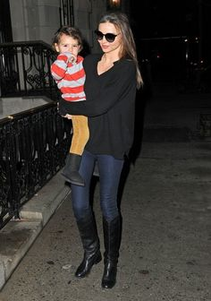 Model Miranda Kerr and her son Flynn spotted out and about in New York City, New…