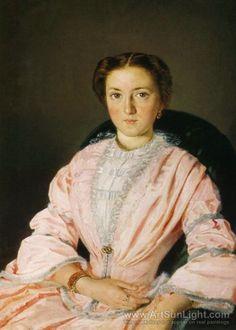 Portrait of M. Obleuhova 1855  Artist: Pukirev, Vasily Vladimirovich (Wassilij Wladimirowitsch Pukirew)(Russian, 1832-1890