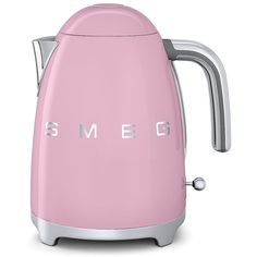 Smeg 7-Cup Kettle ($130) ❤ liked on Polyvore featuring home, kitchen & dining, pink and smeg