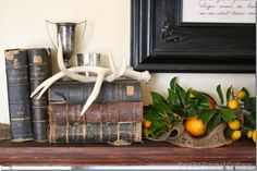 The Old Painted Cottage - Our Winter Mantel
