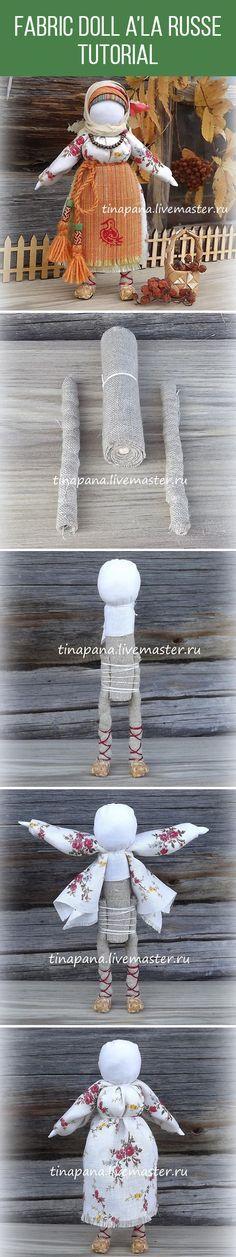 Fabric doll a'la Russe tutorial