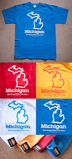 Michigan Torso Cover by Draplin Design Co. Best Shaped State in the Union. Recognize.