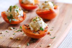 Grilled Apricots with Honey Goat Cheese.