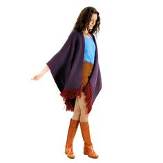 Southwest Fringe Cape Red Blue, $73, now featured on Fab.
