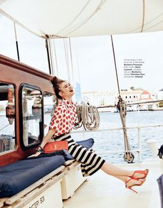 Iulia Cirstea In Burberry Prorsum, Saint Laurent, Dior, and Chanel For Marie Claire Netherlands July 2014