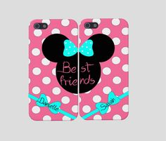 Best Friends Minnie Mouse Iphones, Personalized Minnie Mouse Iphone, Best friends Iphone, Iphone 4, Iphone 5, Minnie Mouse Case on Etsy, $24.50- if we ever get iPhones... @Madeline Fox Brannon