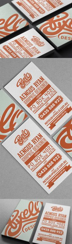 Creative Typography Business Card Design For A Graphic Designer