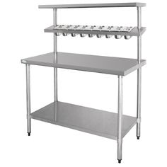Vogue Stainless Steel Prep Station with Gantry Large - CB909