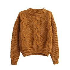 【FanShou Fashion Store】レディス 長袖 セーター ニット クルーネック セーター Brown FanShou Fashion Store http://www.amazon.co.jp/dp/B0152Z24L0/ref=cm_sw_r_pi_dp_wkHawb0X8MZQM