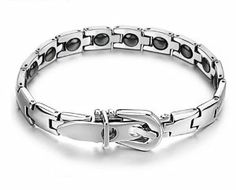 C977 Magnetic energy health bracelet Men's Heavy Solid Stainless Steel Chain Link Bracelet 8 1/2 inches MIAO MIAO. $40.63. Size is not adjustable.. Stainless Steel Links. Underlocking Clasp. 8 1/2 Inches Long end to end