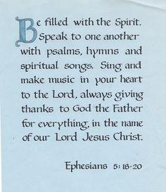 Ephes 5:18-20