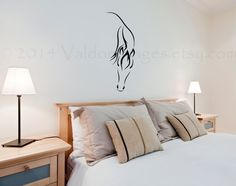 Horse silhouette wall decal living room decal by ValdonImages