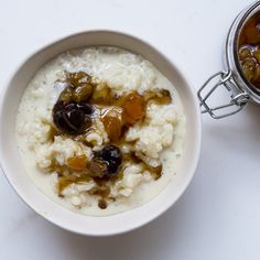 Rice Pudding - We know raisins are controversial in rice pudding, so rather than fan the flames, we kept them separate.