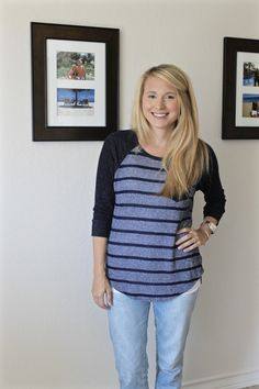 I like the stripes and style. Maybe in a brighter / more fun color combo August 2015 Stitch Fix - Simply Clarke