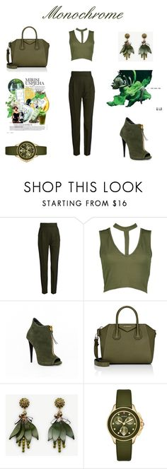"""""""Monochrome#2"""" by iseul on Polyvore featuring mode, Haider Ackermann, Boohoo, Givenchy, Ann Taylor, Michele et Børn"""