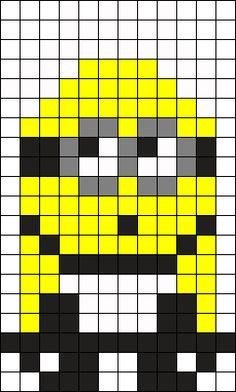 Minion Maid Perler Bead Pattern