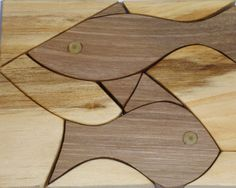 Wooden puzzle eco friendly  FISH  by toporko on Etsy, $18.00