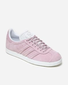 Adidas Originals Gazelle Stitch and Turn. Features a wonder pink colorway  and is made of super soft suede