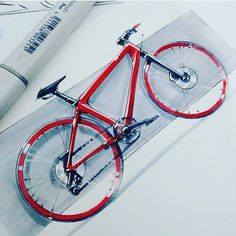Concept Shimano bike sketch render