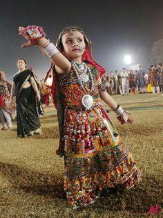 Dances in India Gujarat   girl dances to celebrate the Navratri festival in Ahmedabad, capital ...