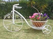 Resultado de imagem para bicicleta de jardim de ferro