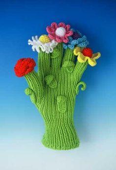 Glove of Flowers by Felieke van der Leest, 1999 - something inspiring about this glove:)