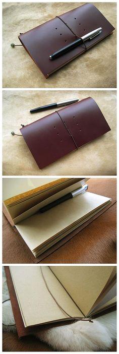 Handmade Leather Book.