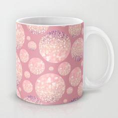 Blushing Bokeh Dots Mug by Lisa Argyropoulos - $15.00