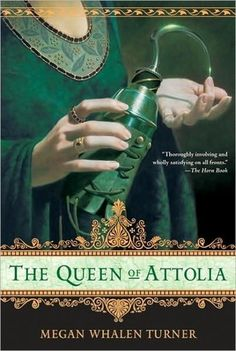 "The second of the ""Attolia"" series by Megan Whelan Turner - a brilliant fantasy series with an unforgettable hero, set in an ancient Greek world that never was."