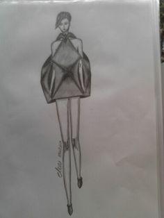 Geometric 3D dress by @elenitsaman
